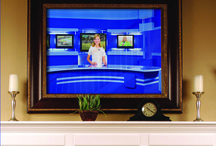Fully Vanishing TV Mirror / Fully vanishing TV mirror is a perfect combination of decor and technology.  Turn the TV on and it appears through the mirror just like magic.  Turn it off and only the mirror remains.  Perfect for keeping connected to news, sports or stocks during your morning routine
