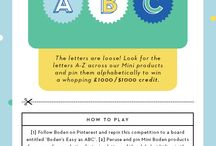 Boden Easy as ABC Competition / Alphabet pins from our favorite store, BodenUSA