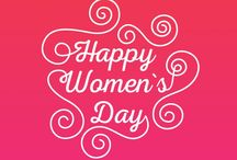 Happy Women's Day / When the world was created, you were created to beautify it and you have certainly done a great job because the world is smiling for you today. #Happy #Women's #Day