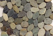 Pebbles - Nature Inspires! / Add a touch of nature to your home.  Cut, Glazed, or Mosiac pebbles are a fun, affordable way to bring nature inside!