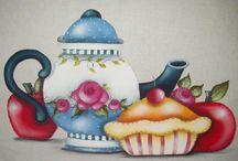 Desenhos para pinturas em tecido