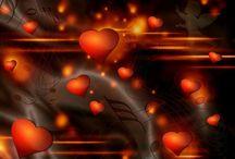 3D love / heart backgrounds