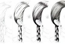 A.Cheveux à dessiner