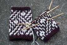 Mosaic knitting - Mosaikstickning