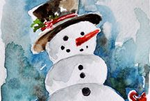 Elder Art Winter and Christmas