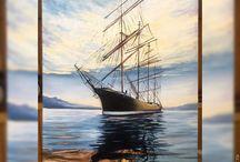 корабли в живописи