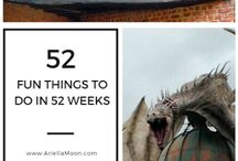 52 Fun Things To Do In 52 Weeks / Many of my most magical adventures began with a book. But sometimes you have to leave the house. The stories behind the photos are on ariellamoon.blogspot and shamanariellamoon.com #FamilyFun, Children & Teens, Outdoor Adventures / by Ariella Moon