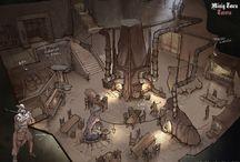 Scene objects: buildings