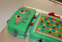 Kids birthday party ideas / Robot cake