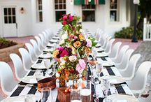 tablescapes / a well designed table can really pull together a look for your wedding or photo shoot / by Green Wedding Shoes