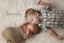 Siblings and Baby / Newborn images with sibling