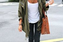 Olive green clothing