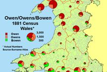 Surnames of Wales / Surnameorigins maps of Wales