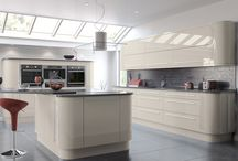 Vivo Complete Kitchen Range / The Vivo range is currently available in High Gloss White and Cashmere with new colours of Grey and Ivory coming soon.  The complete range consists of flat packed units, doors and soft closing hinges.    As well as the complete range, you are able just to purchase the replacement doors, should you want a simple and quick kitchen makeover.  Visit www.doorsandhandles.uk.com for more choice of doors.