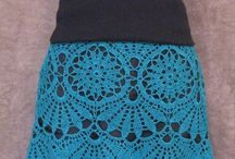 Crocheted Skirts and Dresses