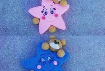 lembrancinhas ursinho nas estrelas #biscuit #lembrancinhas#porcelanafria#amooquefaço