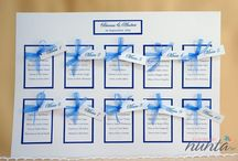 Liste cu asezarea invitatilor / Ajuta-ti invitatii sa isi gaseasca mai usor locurile la mese, folosind listele de asezare. In plus le poti asorta cu tematica nuntii tale.