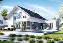 HomeKONCEPT 2 | Projekt domu / HomeKoncept 2 to oryginalny projekt nowoczesnego domu jednorodzinnego, który z pewnością zainteresuje wielbicieli dużych, otwartych przestrzeni i niebanalnych rozwiązań architektonicznych.