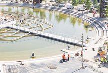 Lake Arena - Expo 2015 / Inghisaggio degli ugelli delle fontane con PLANIGROUT 300