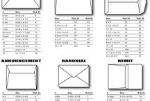 card sizes folds  envelopes