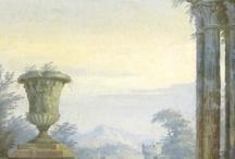 пейзажи для интерьера роспись
