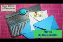 Manualidades Paso a Paso. DIY Fabrica tus sobres / Mira lo fácil que es fabricarte sobres para tus tarjetas. Tienes más de 60 tamaños posibles.