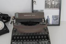 La machine à écrire pour une belle déco / Une ancienne Remington dans une déco de style industriel.