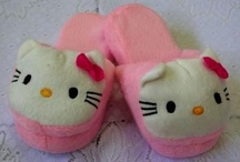 bedroom slipper fun / I love bedroom slippers. I have tons of them from cats, dogs and rabbits to mickey mouse and winnie the pooh. / by Cindy Hertz