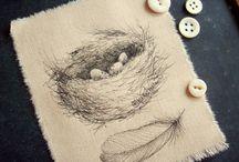 birds nest drawing