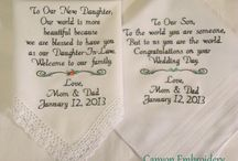 Custom Personalized Embroidered Wedding Hankerchiefs by Canyon Embroidery