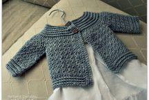 crochet chandail veste