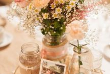 Wildflower Mason Jar Wedding Ideas / Get a flower kit from itsbyu.com and do your own Mason Jar centerpieces in any flower style you want! Visit us online or email us at hello@itsbyu.com and get your custom Mason Jar flower arranging kit today!