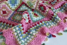 Crochet blankets and cushions
