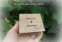 WEDDING RING BOXES AND CUFFLINK BOXES / This is a collection of my handmade wooden ring boxes! The ring pillow boxes approximately measure:  (W x D x H): 3 in x 2 3/4 in x 1 3/4 in (7,6 cm x 7 cm x 4,5 cm) I use beech wood to make my ring boxes! You can choose the color even the carving if you'd like a different one so you get a unique wedding ring box that is one-of-a-kind! You can check them out and my music boxes here: https://www.etsy.com/shop/Simplycoolgifts?ref=si_shop