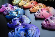 My art - Polymer Clay masks