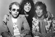 Elton John, Marc Bolan & Rod Stewart