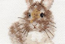 Cross stitch animal