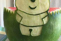 Watermelon carving / Happy 1st birthday Neil
