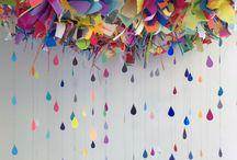Decoração  / Nuvem colorida