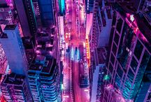 Neons/Lights/Cities Aesthetic