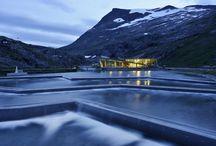 Trollstigen - Valldall - Norvegia / pavimenti cementizi interni trattati con Mapefloor Finish 52 W