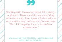 PR Client Testimonials and Quotes / A range of testimonials from DNPR clients and great quotes about PR!