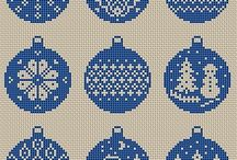 NewYear small x-stitch patterns
