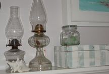 Vignettes / A collection of colorful, old and new collectibles