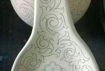 cucharas de ceramica
