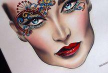 Эскизы макияжа