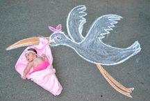 chalk work on road
