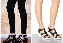 Chunky cleated soles / Chunky cleated soles shoes or sandals.