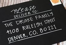 Mailing Artfully / hand lettering, envelopes, addresses, mail, letters, flat notes