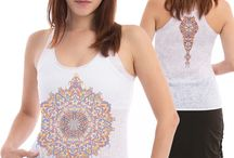 Summer Psychedelic Inspiration Tops for Woman / Feel inspired and make your own statement with these psy tops; These images evoke a message of a peaceful mind and a creative spirit.  #psychedelic #clothing #shirts #festivalfashion #burningman